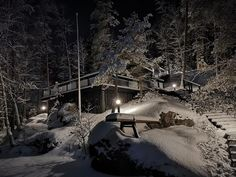 Winter time: Southern Finland often has to wait for permanent snow until Christmas. The frost and new snow decorate the nature in a most beautiful way. Winter Snow, Winter Time, Glass House, Finland, Most Beautiful, Villa, Nature, Outdoor, House Of Glass