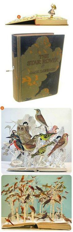 pop up book art Book Art, Up Book, Kirigami, Paper Book, Paper Art, Cut Paper, Altered Books, Altered Art, Book Crafts
