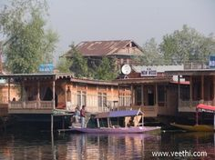 House Boat Stand From Dal Lake