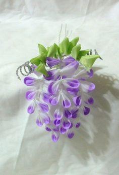 mini purple wisteria kanzashi
