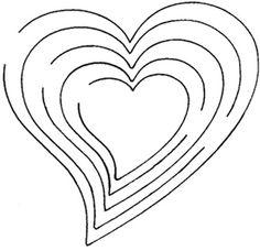 Expanding Heart Card Template
