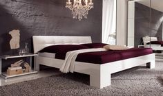 specialises in contemporary beds, designer beds, modern oak beds, wardrobes and contemporary bedroom furniture throughout the UK. Contemporary Bedroom Furniture, Home Furniture, Oak Beds, Bed Design, High Gloss, Guest Room, Vegas, Couch, House Styles