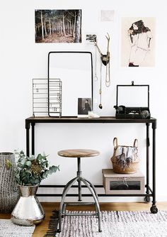 Simple industrial home office