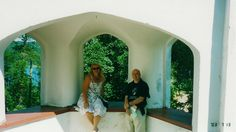 In Architect Eliel Saarinen's homemuseum with Dr. Graig Knobles from Columbia University.