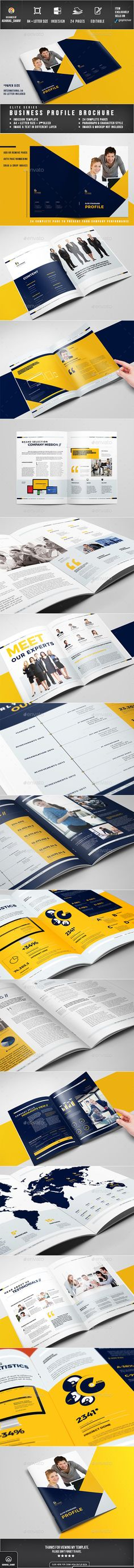 Company Profile Brochure Template InDesign INDD. Download here: http://graphicriver.net/item/company-profile/16046284?ref=ksioks