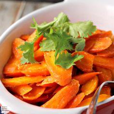 Honey Dijon Roasted Carrots | by Renee's Kitchen Adventures - easy vegetable side dish recipe for tasty carrots! #SundaySupper #RKArecipes #vegetarian