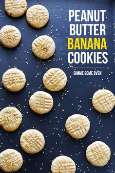 Peanut Butter Banana Cookies | These were pretty good. Next time I will make them with cookie butter instead of peanut butter. Not a huge peanut butter fan.