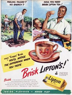 Lipton still calls itself the 'brisk' tea.
