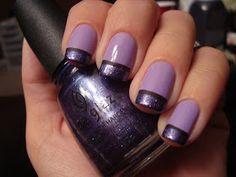 Chloe's Nails: Purple Funky French Mani :)