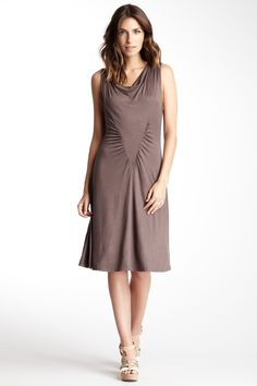 Cowl Neck Sleeveless Dress
