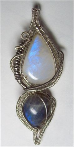 Infinity Moonstone and Labradorite Sterling by aetherealminx, $230.00