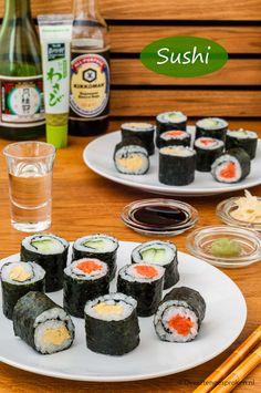 Sushi Recipes, Asian Recipes, Low Carb Recipes, Ethnic Recipes, Sushi Case, Sushi Platter, Japanese Sushi, Good Food, Yummy Food
