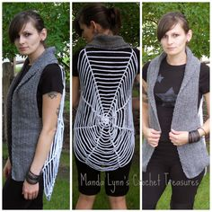 Spiderweb Vest       I made this because I know I will be needing some sort of costume for my youngest child's Halloween party at prescho...