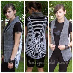 Spiderweb Vest Free Crochet Pattern