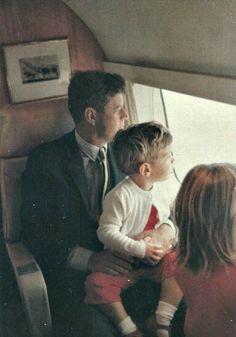 "JFK...Doing What He Seemed To Love Best...Just Being ""Daddy"" To John-John  Caroline..."