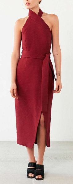 asymmetric pencil dress