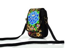 Floral Embroidery hippie gypsy cross body bag #Handmade #MessengerCrossBody