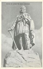 s09349 Alfred the Great statue, Wantage, Oxfordshire, England postcard unposted