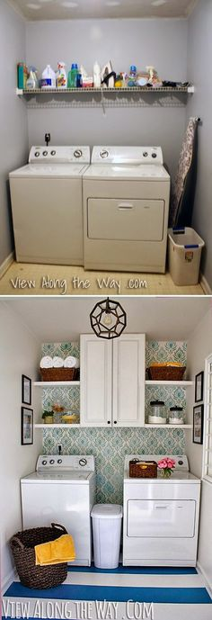 Updated laundry room on a TINY budget