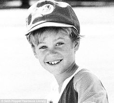 Paul Walker as a youth playing baseball. This photo was an ad his family took out in his 1991 year book