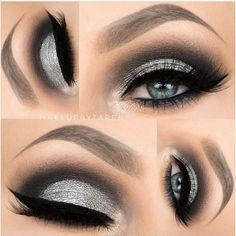 Coloured Eye Makeup Ideas for Blue Eyes at CherryCherryBeauty.com