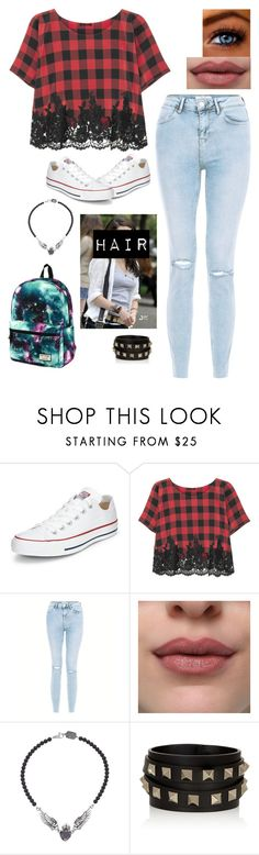 """Untitled #561"" by kdicks ❤ liked on Polyvore featuring Converse, Rosamosario, New Look, Katie, King Baby Studio and Valentino"