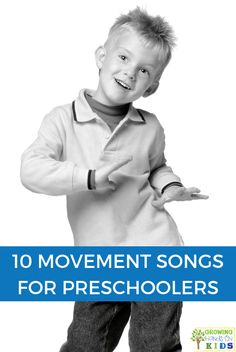 Use these 10 movements songs for preschoolers to help get those extra wiggles out! Gross Motor Activities, Sensory Activities, Hands On Activities, Learning Activities, Preschool Activities, Preschool Music, Toddler Preschool, Preschool Movement Songs, Fall Preschool