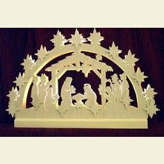 Wish we had a better window to put it in.goes in the back of the house. It is so pretty with all of the fresh greenery I put around it at Christmas in the windowsill. 3d Light, Best Windows, Window Sill, The Fresh, Greenery, Nativity, Christmas Holidays, Arch, Advent