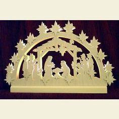 ErzgebirgePalace.com  3D Double Arch  Nativity  -