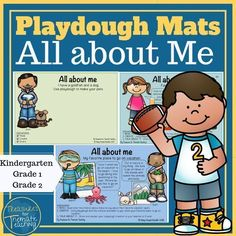 These playdough mats and playdough task cards are great for the theme All about me. They are great for fine motor as well as practising reading and math concepts within the All about me theme. - Education and lifestyle
