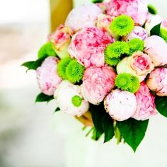This bouquet might have a little too much pink for me, but I like the combination of colors and textures