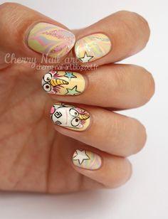 nail art water marble et licorne d'agnes moi moche et mechant !!!!!!!!!!!!!!!!!!!!!! aaaaaaaaaaaahtrop bien !!!!!!!!!!!!!!!!