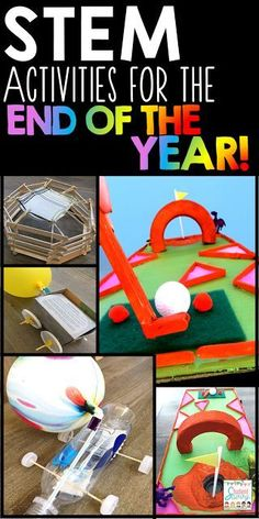 End of the Year STEM activities and ideas for the upper elementary classroom!
