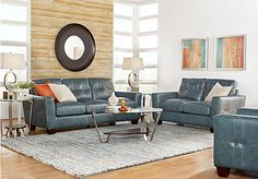 Vittorio Marine 3 Pc Leather Living Room . $2,299.99.  Find affordable Leather Living Rooms for your home that will complement the rest of your furniture.