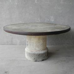 19th c. Stone Table Chateau Domingue Houston TX