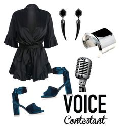 """""""The Voice"""" by angelinaloza ❤ liked on Polyvore featuring River Island, thevoice and YahooView"""
