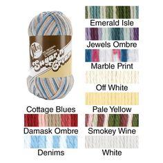Sugar'n Cream Big Ball Naturals Yarn Ombres/Solids