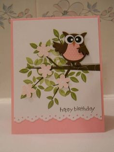 punch art | Stampin' Up! Owl Punch Art / Stampin' Up! 2 Step Owl Punch
