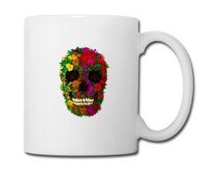 Rainbow Flowers Skull - Full Color Mug #mug #travelmug #sugarskull #skull #skeleton #bone #hallowen #nightmare #monster #dracula #zombie #hunter #evil #devil #daemon #magic #witch #voodoo #kingdom #animal #animalkingdom #ghost #vampire #hauntedmansion #bird #lion #beast #jungle