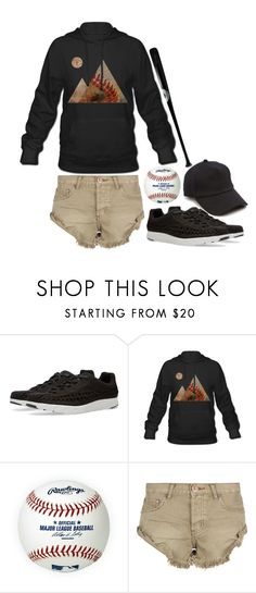 """""""Baseball Player Off The Field"""" by m4k4y14 ❤ liked on Polyvore featuring NIKE, Rawlings, One Teaspoon, rag & bone and modern"""
