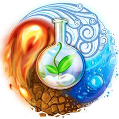 Alchemy, the least understood of the mantic arts. Alchemy is founded on elemental scientific principles. The goal of alchemy is purification, distilling, down to the primordial spirit/energy. 4 Elements, Elements Of Nature, Brain Teaser Games, Element Symbols, Fire Tattoo, Air Fire, Avatar The Last Airbender, Alchemy, Wicca