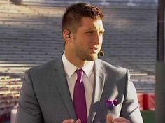 Tebow makes his debut as in analyst during a short ESPN Sportscenter segment.