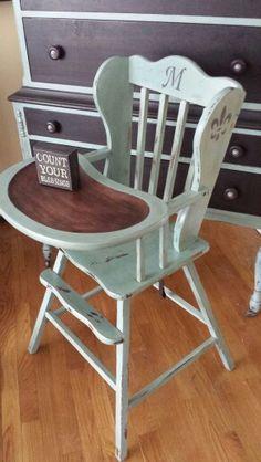 Annke Sloan Duck Egg Chalk Paint -high chair custom order.