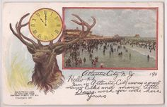 1907 Atlantic City, New Jersey Postcard ELKS BPOE w/ Bathing Beach Scene