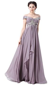 Snowskite Elegant Off Shoulder Chiffon Prom Party Formal Dresses 6 Light Purple Snowskite http://www.amazon.com/dp/B010Q6H2NU/ref=cm_sw_r_pi_dp_mLLYwb1M3FGTG
