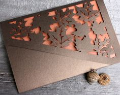 Autumn Leaves Lasercut by KatBluStudio on Etsy, $3.58