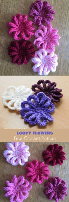 Loopy Flower for February or for Springtime [Free Crochet Pattern]