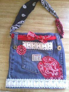diy jean purses