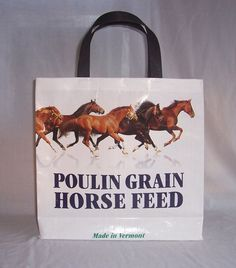 Recycled Feed Bag Tote  Horse Feed by TheDoorYard on Etsy, $10.00