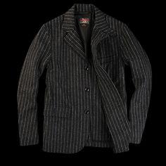 woolrich woolen mills Garfunkel Jacket in Charcoal and Light Grey Angle3